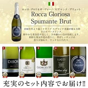 【送料無料】辛口スパークリングワイン5本セット[常温]【3~4営業日以内に出荷】[W]【S】