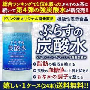 [送料無料]ぷらすの炭酸水 500mlPET×24本[脂肪 糖 整腸][機能性表示食品] 2ケースまで1配送でお届け[賞味期限:1ヶ月以上]【3~4営業日以内に出荷】北海道、沖縄、離島は送料無料対象外 強炭酸水 割材 ソーダ