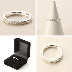 Czダイヤモンドジュエリーフルエタニティーリング|指輪|プレゼント|ギフト|Diamond ring|アクセサリー|【宅配便】7-8