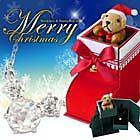 【送料無料】『サンタのジュエリーケース×選べる ネックレス セット』 ネックレスAレッド【ym-xmas1204】【宅配便】