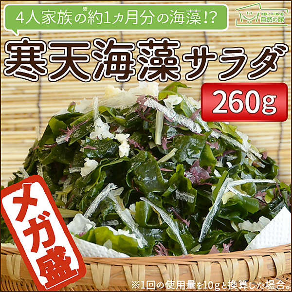 【販売ページ移動しました!】送料無料 サラダが簡単♪ 寒天海藻サラダ メガ盛260g [ ダイエット 美味しいサラダ わかめ ワカメ 海藻サラダ 寒天 かんてん 若布 業務用 健康 料理 おかず ]