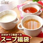 送料無料 全7種類のスープから2つ選べるスープ福袋 スープ ランキング 即席 インスタント 手軽 弁当 料理 玉ねぎ 国産 玉葱スープ 味源 自然の館 秋