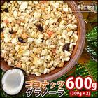 送料無料 ココナッツグラノーラ メガ盛 600g (300g×2) サクサク シリアル 朝食