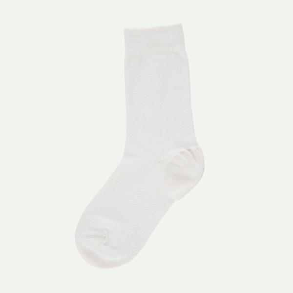 【在庫処分】靴下 ソックス クルー丈 かかとつるつる ケアしるく アイボリー 22-25cm