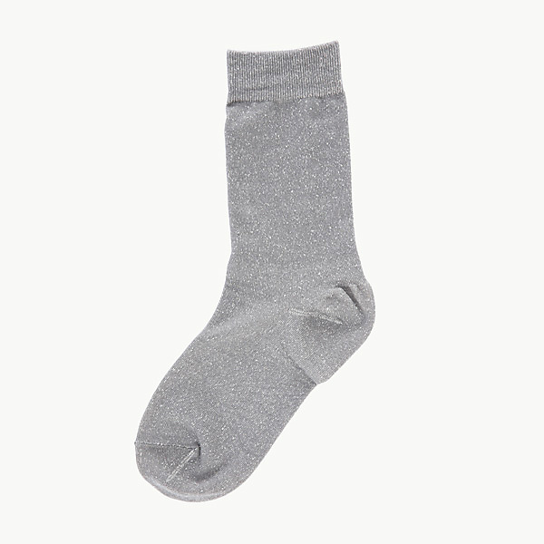 【在庫処分】靴下 ソックス クルー丈 かかとつるつる ケアしるく ライトグレー 22-25cm