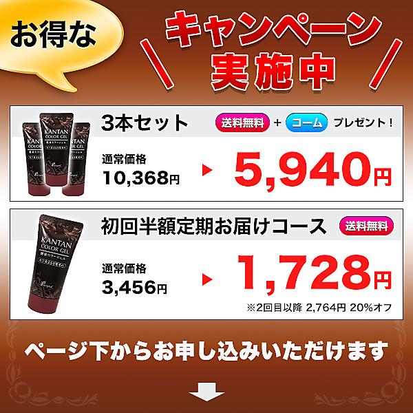 A【42%オフ】簡単カラージェル50g(光で染まる、洗い流さない白髪染め!)