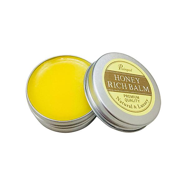 【送料無料】【50%オフ】ハニーリッチバーム 15g 日本ミツバチのミツロウ使用!リップクリームとして、爪にも※ポストにお届け