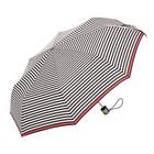 【在庫処分】折りたたみ傘 totes トーツ ボーダー 晴雨兼用