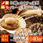 殻付き牡蠣20個とホタテ片貝20枚のお得なバーベキューセット【送料無料】