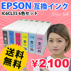 IC6CL35 6色セット  インクカートリッジ エプソン EPSON IC35 【互換インク】 純正互換 PM-A900 PM-A950 PM-D1000 対応 ICチップ付 ICBK35 ICC35 ICM35 ICY35 ICLC35 ICLM35 【インク保証】 【送料無料】