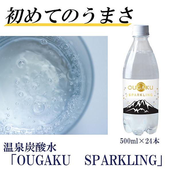 【送料無料】温泉炭酸水「OUGAKU SPARKLING」500ml×24本