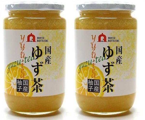 国産ゆず茶【特大】(大分院内産柚子) 2本セット