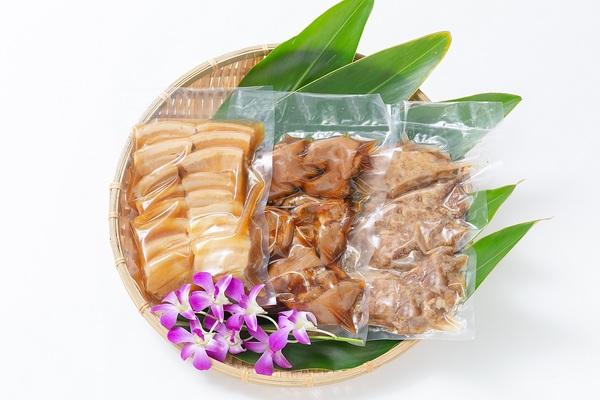 豚肉煮付け詰め合わせ(三枚肉・軟骨ソーキ・てびち)