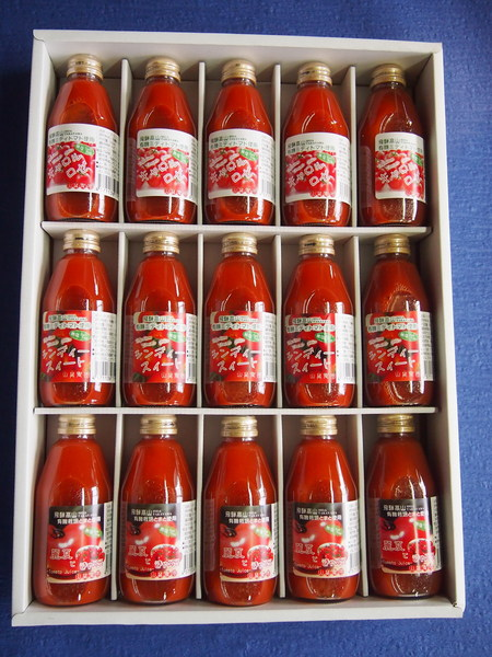 飛騨高山有機栽培トマト使用「トマトジュース」15本アソートセット