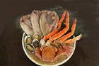 北海道からお得な天然エゾアワビ、毛ガニ、タラバガニ、ホッケ、ズワイ20000円セット