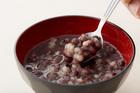 【送料無料】もちもちの大麦丸麦粒+北海道小豆の入った 大麦入りぜんざい(レトルト)3個セット