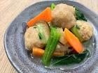 鶏団子とチンゲン菜の中華煮