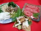 【送料無料】地元ブランド牛 「亀岡牛ロースと国産&丹波松茸すき焼きセット」 2~3人前
