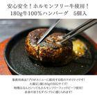【牛100%ハンバーグ 180g×5個】安心安全ホルモンフリーフェッドビーフ!牛100%!業務用品質!