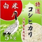 純精米 【会津米特選米】 白米 27年産コシヒカリ5kg