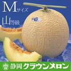 【送料無料】静岡クラウンメロンMサイズ山等級1玉入【発送に1週間程かかる場合があります】