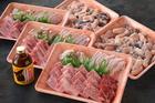 鳥取和牛とホルモン、豚、鶏肉の焼肉セット