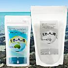 天然塩ちきゅうの雫細粒塩200g+粗塩1kgセット