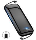 【送料無料】A-mumu モバイルバッテリー E01内蔵ケーブル ワイヤレス充電 4台同時充電