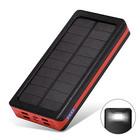 【送料無料】TSUNEO モバイルバッテリー 4U ソーラーチャージャー LEDライト付き