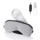 【送料無料】ホットアイマスク USB 蒸気 ホット アイマスク 安眠 遮光 リラックス 繰り返し 温度調節 タイマー設定 (グレー×布)