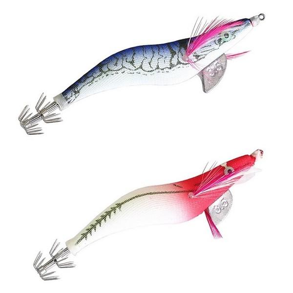 【送料無料】TPOS エギ3.5号 イカ釣り エギング 蓄光 夜光 6種6個セット