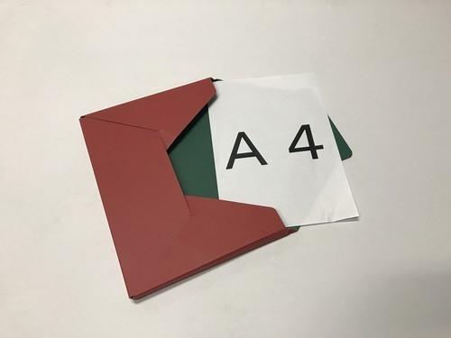 メール便対応型BOX  『カートンフィーノ』 赤×緑