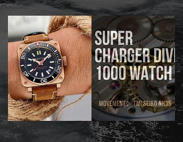 【送料無料】SUPER CHRAGER DIVE 1000WATCH