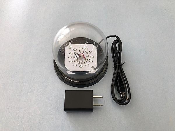【送料無料】UVA紫外線LED近日光除菌小ドーム灯