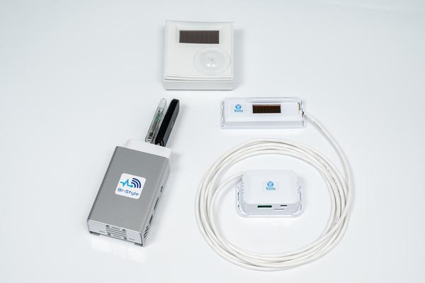 新型コロナウイルス対策 スマホで三密確認(本体、CO2温度湿度センサー、在室センサーセット)