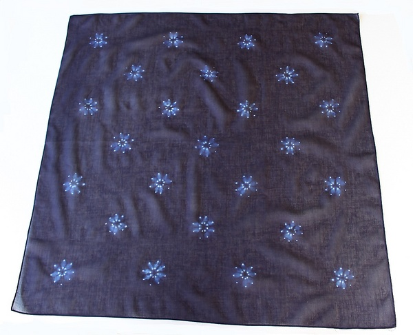 本藍染絞りスカーフ90cm