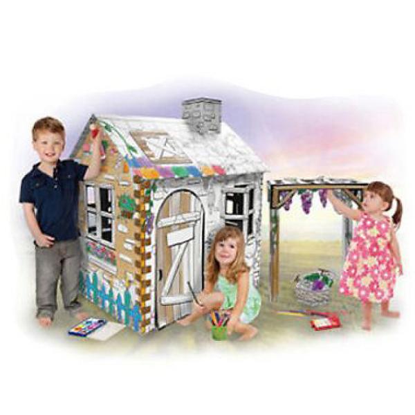 新しいスタイルの知育玩具!紙の家ヌリー【ラージハウス】