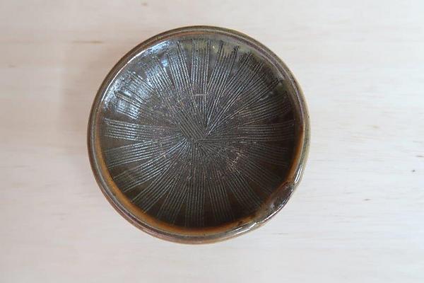 小鹿田焼3寸すり鉢【茶色】