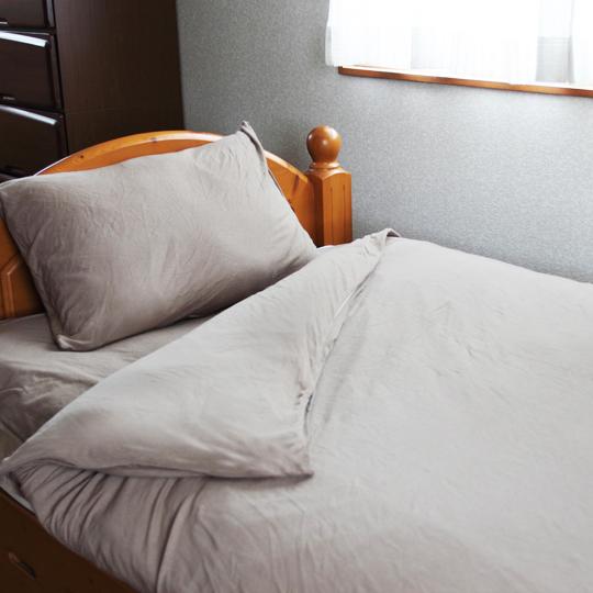 創業80年(1950年設立)のチャック屋が、布団カバー交換時の不満解決に取り組んで作った寝具カバー RakkuChan シングルサイズ 敷き用カバー 綿100% 天竺ニット生地