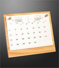 【送料無料】木製スタンドカレンダー