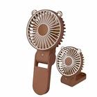 【送料無料】WAYONE 手持ち扇風機 USB扇風機 携帯扇風機 充電式 ミニ 小型 首掛け 携帯 卓上置き多用扇風機 風量3段階調節 270度折り畳み式 角度調節可能 くまBrown