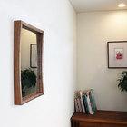 壁掛け鏡プレーン50クルミ