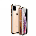 【送料無料】 Apple iPhone 11 11 PRO 11 PRO MAX ケース 金属 アルミニウムバンパー かっこいい マグネット装着 CASE 持ちやすい 耐衝撃 クリア 前後強化ガラス保護 正面背面パネル付き 軽量 持ちやすい カバー 高級感があふれ 人気 メタルサイドバンパー