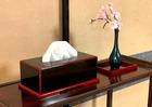 檜ノ力・本漆塗り鏡面蝋色仕上げ(ティッシュケース)