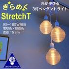 【送料無料】3灯ペンダントライト Xing2 3Dデザイン電球付き 6畳 4畳半 おしゃれにきらめくオリジナル透明ランプシェード 電球色/昼白色 90~180W相当 ダイニング用 食卓用 波模様 凹凸 凸凹 LED照明器具 インテリア