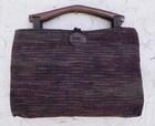 【送料無料】木の持ち手バッグ 1 1。1紺2 赤黒 絹