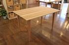 杉無垢材 ダイニングテーブル120