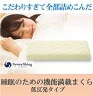 睡眠のための機能満載まくら 低反発タイプ