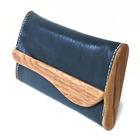 木と革の長財布