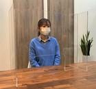 透明アクリルパーテーション【とめまる君】H-5